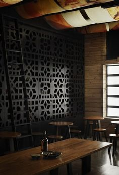 Restaurant Design: MoPho Noodle Bar by Hassell. I am a big fan of CMU patterns
