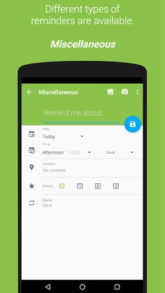 COL Reminder v3.3.3 build 335 BETA 1 [Donate]   COL Reminder v3.3.3 build 335 BETA 1 [Donate] Requirements:4.0.3 Overview:COL Reminder is a remind-application for your Android phone.   Text Reminder  Telephone Call Reminder  Parkingtime Reminder with Countdown  Birthday Reminder  Location Based Reminder  Dashclock WidgetExtension Google DriveBackup  Available in over 40 Languages !! (english german italian france swedish spanish chinese polish korean hungarian turkish czech slovak ...)  It…