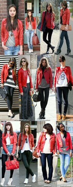 How to Combine a Red Leather Jacket