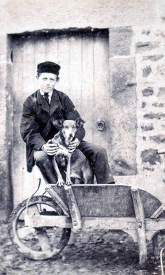 1860s Boy with Dog