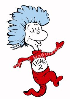 drseuss thing 1 and thing 2 printables  Thing 1  Thing 2 Dr