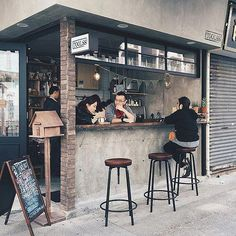 unique cafe's and coffee shop innovation ideas 5 Small Coffee Shop, Coffee Shop Bar, Coffee Store, Coffee To Go, Coffee Pods, Coffee Coffee, Coffee Cake, Cafe Shop Design, Kiosk Design