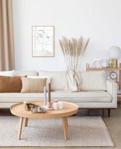 We duiken dit jaar in de lekkere lichte interieur! Home Living Room, Apartment Living, Interior Design Living Room, Living Room Designs, Simple Living Room Decor, Warm Home Decor, Trendy Home Decor, Design Bedroom, Style Deco
