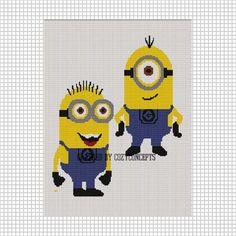 Despicable me minion crochet graph crochet pinterest minion cozyconcepts yellow man minions crochet pattern graph emailed pdf ccuart Choice Image