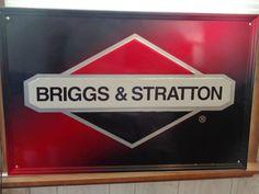 "Briggs & Staton Dealer Sign 35"" x 23"" Man Cave Garage Bar Den Decor #BriggsStraton"