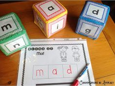 Short Vowel Activities- student love these cubes!