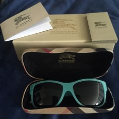 Selling this Burberry Teal Sunglasses in my Poshmark closet! My username is: pinkpretty02. #shopmycloset #poshmark #fashion #shopping #style #forsale #Burberry #Accessories