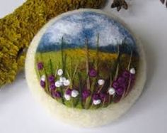 needle felt and embroidery - Google Search