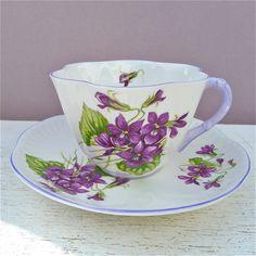 Vintage Shelley Violets Fine Bone China Tea Cup