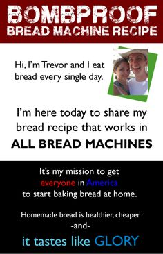 1 Minute Bread Recipe Using Any Bread Machine Add The Following In This Exact Order