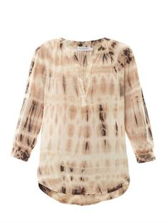 Serenity tie-dye blouse | Velvet by Graham & Spencer | MATCHES...