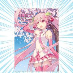Hatsune Miku: Sakura Miku, Cherry Blossom Wall Scroll Hatsune Miku, Adventure Time Poster, Japanese Akita, Akita Dog, Love Rainbow, Kaneki, Beautiful Artwork, Nightmare Before Christmas, Cherry Blossom