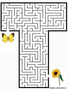 Typography - Maze Alphabet - Letter T Letter T Worksheets, Maze Worksheet, Kindergarten Worksheets, Worksheets For Kids, Teaching The Alphabet, Alphabet Activities, Learning Letters, Coloring For Kids, Coloring Pages