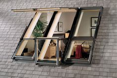 A Good Outlook on Safety Attics windows are not only beautiful—they're safety measures, too. Most building codes require that an attic bedroom have two exits, or egress openings, one of which may be a window large enough for a person to escape through.