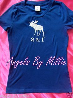 #VSPINK & MORE Storewide 20% Off Sale #ebay #backtoschool A F #Abercrombie Kids Girls XL 14 16 Cobalt Blue White Moose Graphic T Shirt | eBay