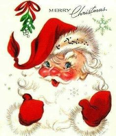 Old Time Christmas, Christmas Scenes, Christmas Love, Retro Christmas, Christmas Pictures, Christmas Greetings, Christmas Crafts, Father Christmas, Christmas Fabric