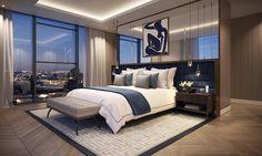 Chelsea Island Master Bedroom - ArcMedia CGI