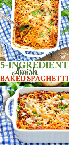 Amish Baked Spaghetti is an easy dinner recipe that the whole family will love!This Amish Baked Spaghetti is an easy dinner recipe that the whole family will love! Casserole Recipes, Pasta Recipes, Cooking Recipes, Pasta Meals, Healthy Recipes, Amish Recipes, Italian Recipes, Italian Beef, Dutch Recipes