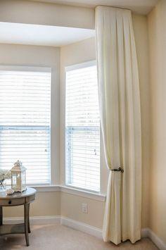 Tuxedo or inverted pleat drapery panels from Decorating Den Int. Decor, Drapery Panels, Drapery, Curtains, Paneling, Pleated Drapery, Home Decor, Inverted Pleat Drapery