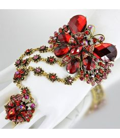 Trending for 2013  Butterfly cuff with attached ring  Stunner