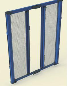 SIDNEY A.C. -zanzariera laterale consigliata per finestre a porta con 2 o più ante