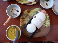 Idly Indian Food Items, Indian Food Recipes, Rice Flour, Apron, Coconut, Tasty, Breakfast, Morning Coffee, Indian Recipes