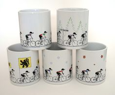 Mr. Drew Image of The Monuments of Cycling Mug Set