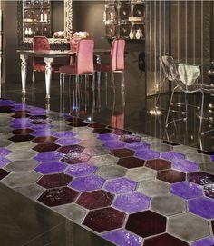 luxury glass floor -