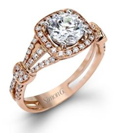 Sparkling Engagement Ring By Simon G.