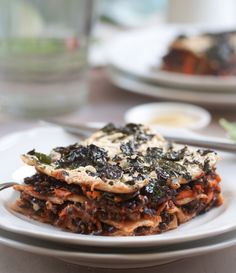 LASAGNA!!!!!!! We're total lasagna fiends, and we basically jumped out of our seats for this kind with kale, beluga lentils and carrot.