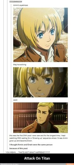 Armin arlert and Erwin smith