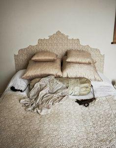 Kopfteil Aus Tapete Am Bett   Romantischer Selbermachen Tipp Fürs  Schlafzimmer