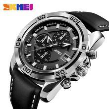 2017 SKMEI Quartz Men Watches Top Brand Luxury Famous Men Military Watch  Leather Men Sports Watches 4f127ba991b