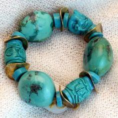 armband_01_005 Turquoise Bracelet, Bracelets, Jewelry, Semi Precious Beads, Handmade, Wristlets, Schmuck, Gifts, Jewlery