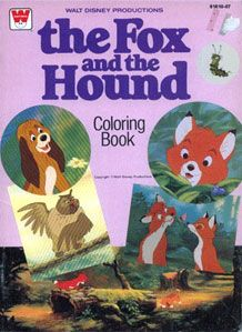 The Fox And Hound Big Coloring Book 1981