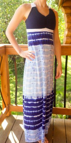 PDF sewing pattern for a women's bra, tank, dress, and maxi. You can make it…