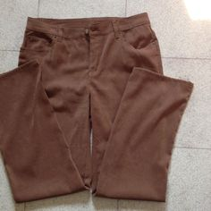 """Brown pants Brown 97% polyester and 3% spandex pant. """"Suede look"""" PINOT NOIR Pants"""