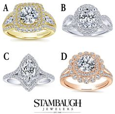 It's #WeddingWednesday!  Which of these Gabriel engagement rings do you like best?