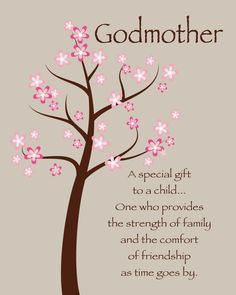 Godmother Gift Gift from Godchild Custom by KreationsbyMarilyn