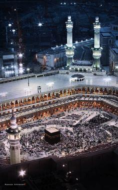 Masjid al-Haram at Fajr Mecca Masjid, Masjid Al Haram, Islamic World, Islamic Art, Islamic Quotes, Medina Mosque, History Of Islam, Islamic Status, Mekkah
