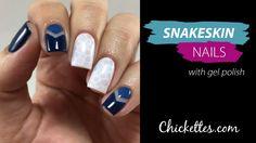 Snakeskin Nail Art Effect using Gel Polish