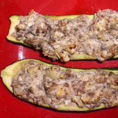 Rezept Gefüllte Zucchini von MelKö - Rezept der Kategorie Beilagen