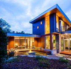 design M 22 House Michael Fitzhugh1 Sustainable Modern Residence Overlooking Lake Michigan: The M 22 House