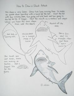 How to draw a shark attack worksheet