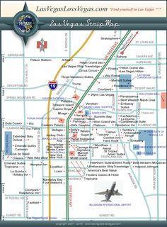 Las Vegas Strip Distance Map Las Vegas Strip Map Vacation - Las vegas walking map