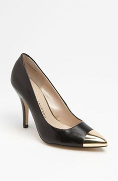 Chinese Laundry Danger Zone Pump.  I seriously heart the cap toe look...classic with a twist!  This one comes in basic black or mint or hot pink if you're feeling trendy :)