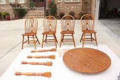 How to Revamp Your Old Kitchen Table {Using Chalk Paint} - Megan Brooke Handmade Old Kitchen Tables, Kitchen Linens, Using Chalk Paint, White Chalk Paint, Inexpensive Furniture, Outdoor Furniture Sets, Make A Chalkboard, Outdoor Tables, Outdoor Decor