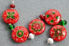 Cute lampwork beads from pixie Willow Designs...