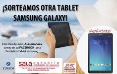 ¡Gana esta TABLET SAMSUNG GALAXY con Sala Asesoría!