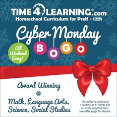 Time4Learning BIG Sale: Buy One Month Get One Free! Limited time from sponsor @time4learning